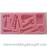 Construction Tools Silicone Mould, Gum Paste Construction Mould – COSM01