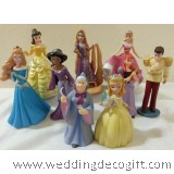 Princess, Prince Figurines Cake Topper, Disney Princess Toy