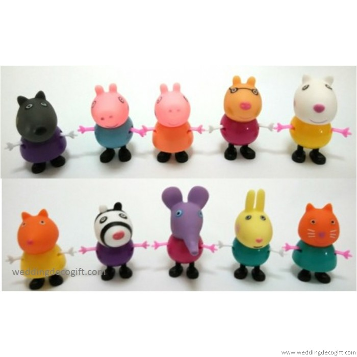 Peppa Pig Cake Topper Toy Figures