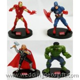 Action Figures Captain America, Iron Man, Thor, Hulk Cake Topper - SHCT03