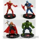 Action Figures Captain America, Iron Man, Thor, Hulk Cake Topper - SHCT03