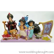 Disney Princess Jasmine, Aladdin and friends Cake Topper Figures