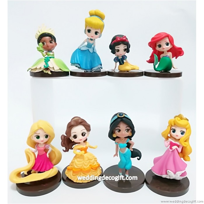 Disney Princesses Cake Topper Toy Figures CCT47