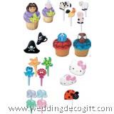Cupcake Topper Decoration , Cupcake Ring