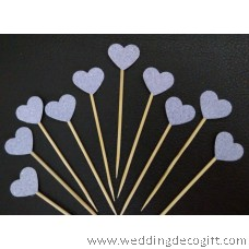 Snowflake, Heart and Star Shaped Cake Pick