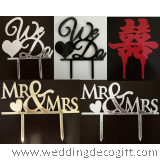 Mr & Mrs, We Do, Double Happiness Cake Topper