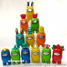 12pcs Among Us Figure Dolls, Cartoon Imposter Among Us Cake Topper Figurine