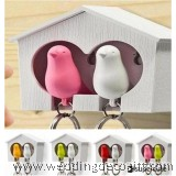 Cute Couple Gift / Sparrow Key Ring with Whistle