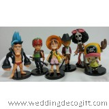 Anime One Piece Figurine Cake Topper / Action Figure One Piece and friends figurine
