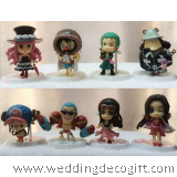 Anime One Piece Figurine Cake Topper / Action Figure One Piece and friends Figurine (8 Figurine)
