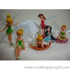 Tinkerbell Figurine/ Disney Fairies Cake Topper / Fairy Tale Kids Toy