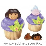 Dora the Explorer Cupcake Ring / Dora the Explorer Cupcake Decoration (6pcs)