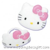 Hello Kitty Cupcake Ring / Hello Kitty Cupcake Topper Decoration (6pcs)