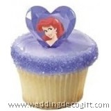 Princess / Cinderella Cupcake Ring, Princess Cupcake Decoration (6pcs)