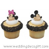 Mickey Mouse Cupcake Ring / Mickey Mouse Cupcake Decoration (6pcs)