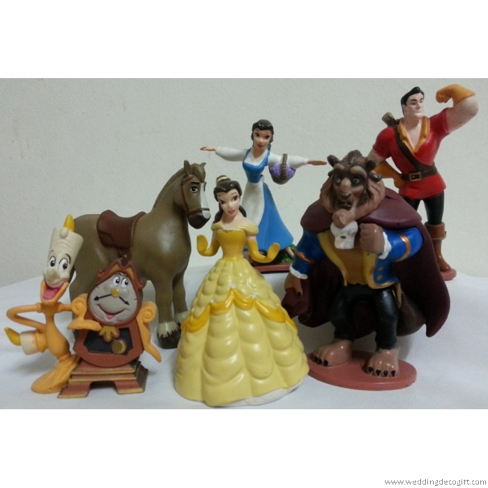 Beauty The Beast Figurine Cake Topper Decoration