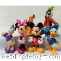 Mickey Mouse, Goofy, Pluto, Minnie, Donald Duck Figurine Cake Topper -MMCT09