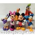 Mickey Mouse, Goofy, Pluto, Minnie, Donald Duck Figurine Cake Topper