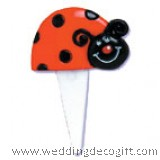 Lady Bug Cupcake Pick