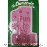 Fun to be No. 1 Birthday Candle Pink