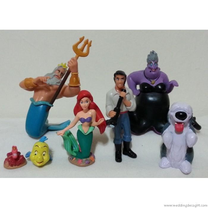 the little mermaid figurine cake topper    princess ariel toys