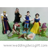 Snow White and the 7 Dwarf Cake Topper Figurine / Snow White Figurine Playset