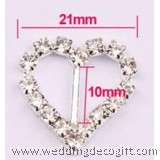 Heart Shape Crystal Buckles, Rhinestone Buckle (20pcs)