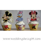 Mickey Mouse, Minnie & Donald Cupcake Wrappers and Picks