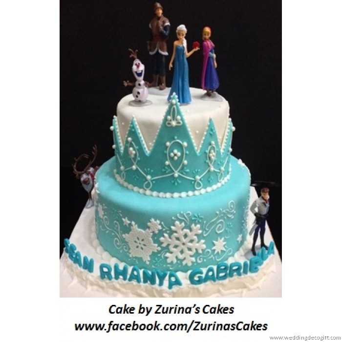 Princess Anna Elsa Figurines Cake Topper Disney Frozen Anna