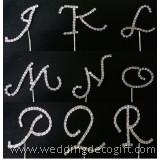 Monogram Rhinestone Cake Topper Letter, Alphabet Letter Cake Topper – ALCT01JR
