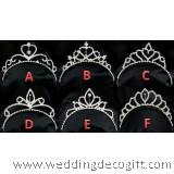 Princess Rhinestone Hair Band Tiara, Girl Crown Rhinestone Headband - TC02AF