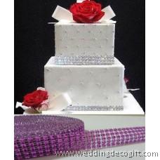 5 row Lavender Diamond Mesh Ribbon, Crystal Ribbon – RRL502