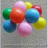 Small Balloon Bunches Cake Pick - BBCP01