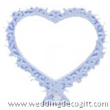 Small Open Heart Filigree Edge Cake Topper - HFCT01