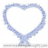 Small Open Heart Filigree Edge Cake Topper - HFCT01