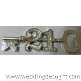 Silver 21st Key Cake Topper - GKCT02B