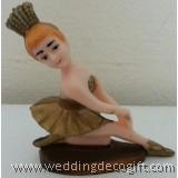 Kneeling Ballerina Figurine Cake Topper - KBCT01