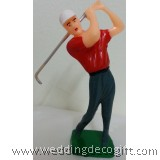 Golfer Swinging Cake Topper - GSCT01