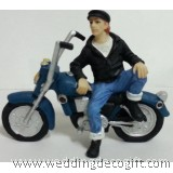 Harley MotorCycle and Rider Cake Topper - HMCT01