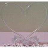 Swan Heart Shape Cake Topper - SHSCT02