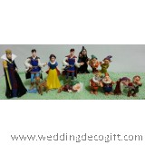 Snow White & the 7 Dwarf Cake Topper Figurine, Snow White Toy Figurine - SNCT04