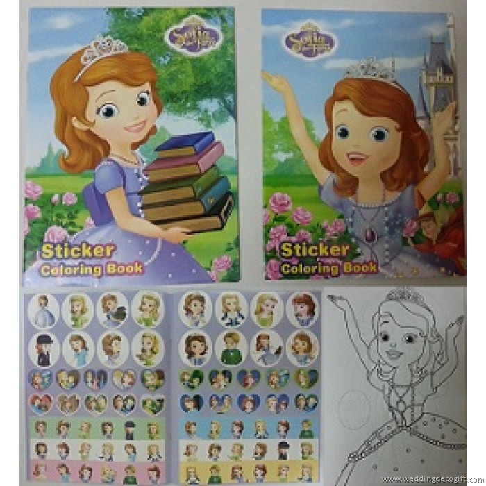 sofia the first coloring book with sticker sfs01 - First Coloring Book
