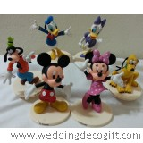 Mickey Mouse, Minnie Mouse,Daisy, Donald Duck Cake Topper Figurine -MMCT22