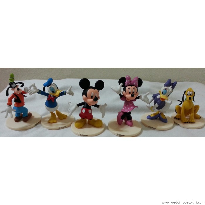 Mickey Mouse, Minnie Mouse,Daisy, Donald Duck Cake Topper Figurine