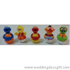 Sesame street Elmo Toy Figures , Cookie Monster, Big Bird, Ernie, Oscar - SSBCT03