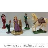 Rapunzel Cake Topper Toy Figurine, Rapunzel Figurine Toy - RPCT01