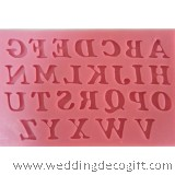 26 Letter Silicone Mould  - NSM02