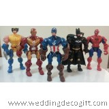 Action Heroes Figurine, Spiderman, Iron Man, Captain America, Wolverine, Batman - AVF06
