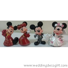 Mickey Mouse Wedding Couple Modern and Traditional Attire - MMCT17AB