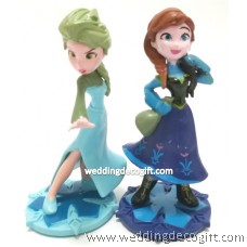 Disney Frozen Elsa Figurine, Disney Frozen Anna Cake Topper Figurine - CCT24B